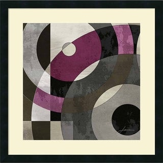 James Burghardt 'Concentric Squares I' Framed Art Print 25 x 25-inch