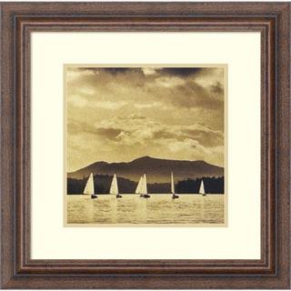 Michael Kahn 'O Boats Racing' Framed Art Print 14 x 14-inch