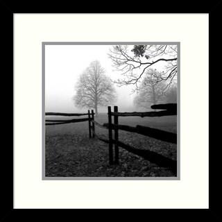 Harold Silverman 'Fence in the Mist' Framed Art Print 13 x 13-inch