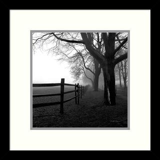 Harold Silverman 'Corner Fence' Framed Art Print 13 x 13-inch