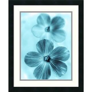 Teton Parchment 'Forget Me Not Blue I' Framed Art Print 18 x 22-inch