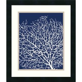 Sabine Berg 'Navy Coral I' Framed Art Print 17 x 20-inch