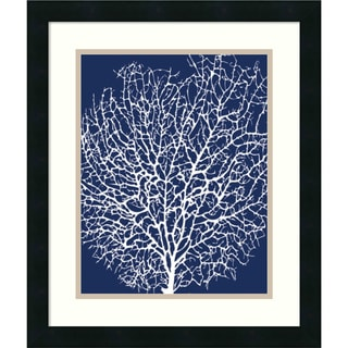 Sabine Berg 'Navy Coral II' Framed Art Print 17 x 20-inch