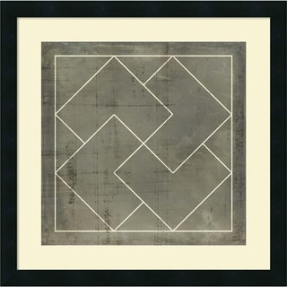 Vision Studio 'Geometric Blueprint III' Framed Art Print 21 x 21-inch