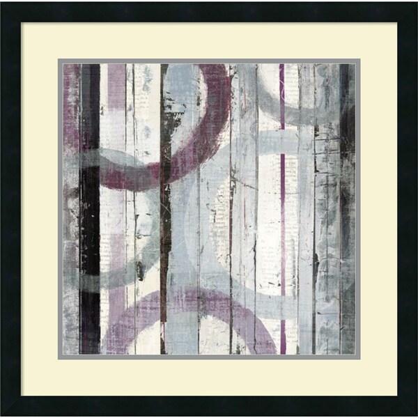 Mike Schick 'Plum Zephyr I' Framed Art Print 25 x 25-inch 13240857