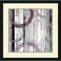 Mike Schick 'Plum Zephyr I' Framed Art Print 25 x 25-inch