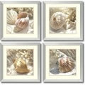 Donna Geissler 'Coral Shell- set of 4' Framed Art Print 18 x 18-inch Each