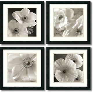 Sondra Wampler 'Poppy Study- set of 4' Framed Art Print 18 x 18-inch Each