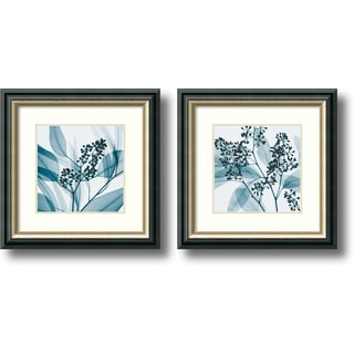 Steven N. Meyers 'Eucalyptus- set of 2' Framed Art Print 15 x 15-inch Each