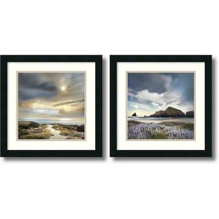 William Vanscoy 'Sense of Direction & Sweet Illusion- set of 2' Framed Art Print 18 x 18-inch Each