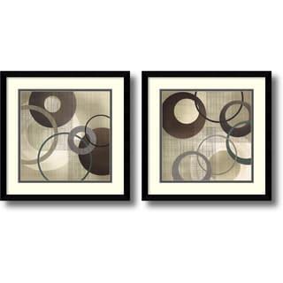 Tandi Venter 'Hoops and Loops- set of 2' Framed Art Print 17 x 17-inch Each