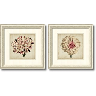 Vision Studio 'Pop Floral- set of 2' Framed Art Print 26 x 26-inch Each