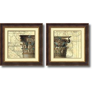 Vision Studio 'Architectural Inspiration- set of 2' Framed Art Print 24 x 24-inch Each