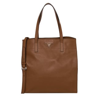Prada Caramel Saffiano Leather Tote
