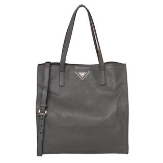 Prada Grey Saffiano Leather Tote
