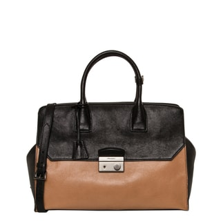 Prada Glace Bicolor Calf Leather Satchel