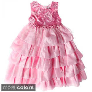 Sweetie Pie Girl's Tiered Organza Special Occasion Dress