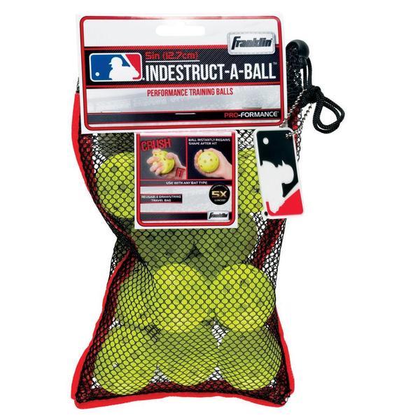 Franklin Sports MLB 5-inch Optic Yellow Indestruct-A-Balls Micro Baseballs
