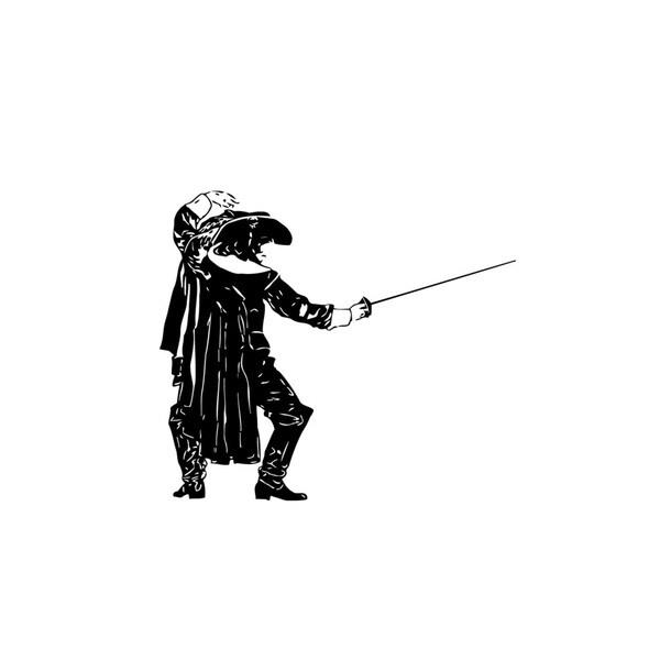 Fencing Musketeer Vinyl Wall Art