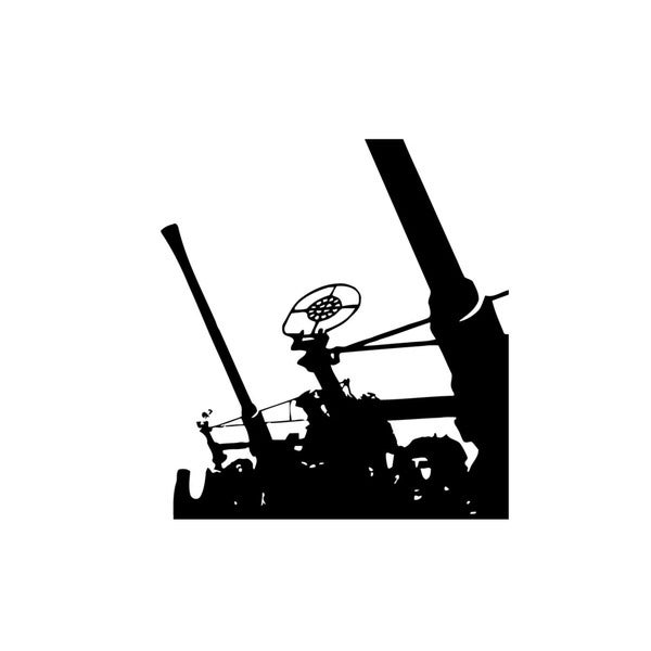 "1.1""/75 (28mm) Gun Vinyl Wall Art"