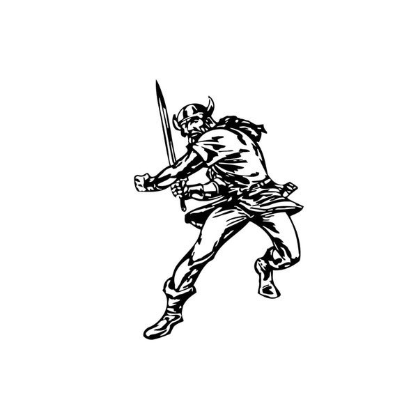 Norse Soldier with sword Vinyl Wall Art