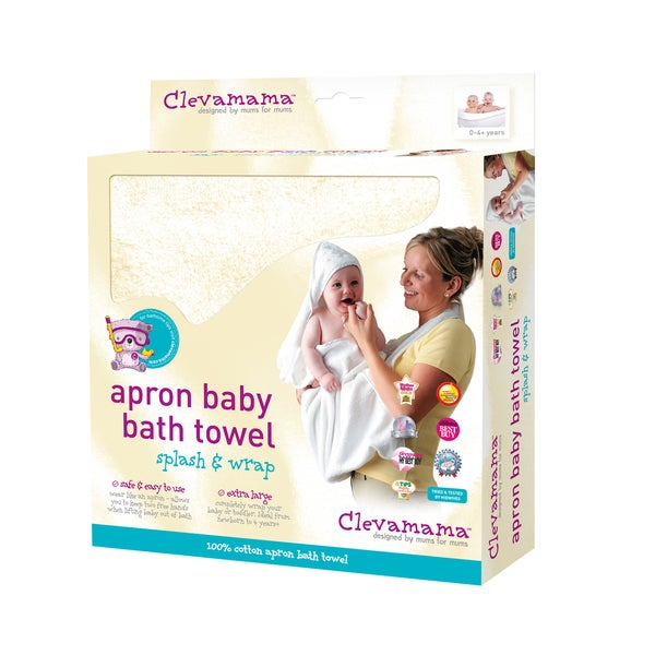 Clevamama Hooded Apron Bath Towel in Cream