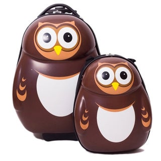 Cuties & Pals Children's Pipi Owl Hardside Luggage Set