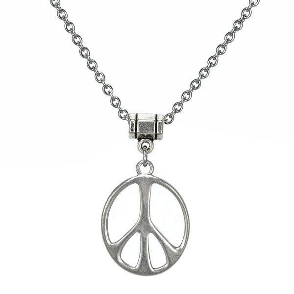 Jewelry by Dawn Stainless Steel Unisex Peace Sign Necklace