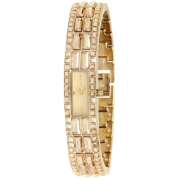 DKNY Women's NY8630 Goldtone Glitz Watch