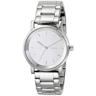 DKNY Women's NY2177 Soho Round Silver Tone Watch