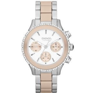 DKNY Women's NY8824 Chronograph Two-Tone Crystal Watch