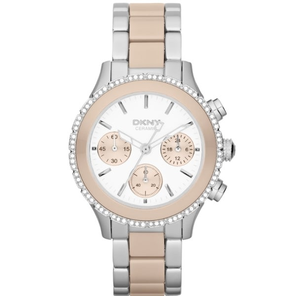 DKNY Women's NY8824 Chronograph Two-Tone Crystal Watch