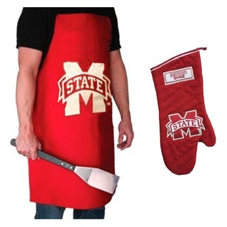 NCAA Mississippi State Bulldogs Grilling Apron and Glove Set