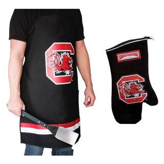 NCAA South Carolina Gamecocks Grilling Apron and Glove Set