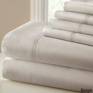 Modern Threads 1000 Thread Count Blend Double Hem Stitch 6-piece Bed Sheet Set