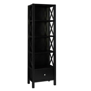 Anna Black Collection Narrow 5-shelf Bookcase