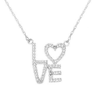 Sterling Silver Diamond Accent Love Necklace