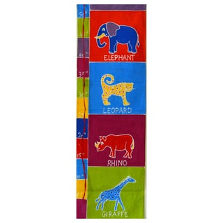 Hand-painted 'Various Animals' Kids Height Chart (Zambia)
