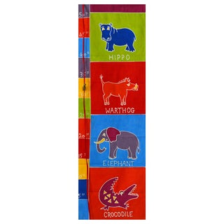 Hand-painted 'African Animals' Kids Height Chart (Zambia)