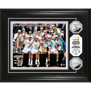 San Antonio Spurs 2014 NBA Finals Champions Celebration Silver Coin Photo Mint