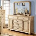 Furniture of America Lucielle 2-piece Antique White Dresser and Mirror Set