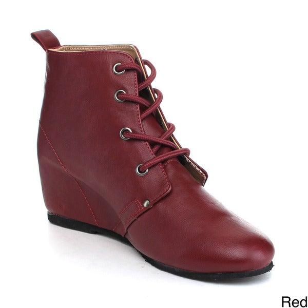 Reneeze KATE-3 Women's High Top Wedge Heel Sneakers