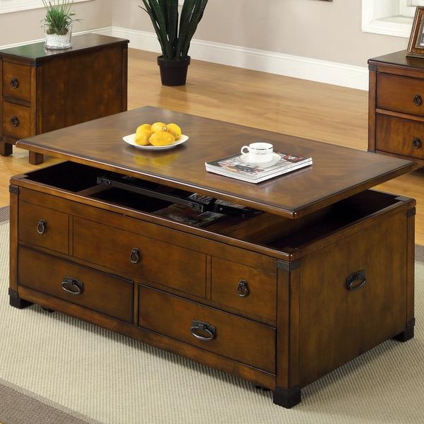 Furniture of america olsen antique oak lift top coffee for Furniture of america address
