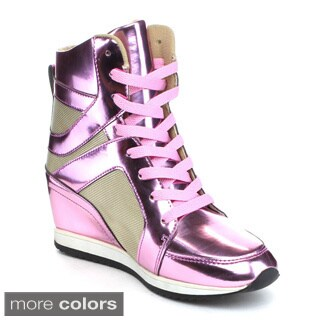 Reneeze KELLEY-2 Women's High Top Wedge Heel Sneakers