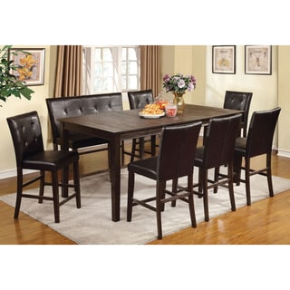 Furniture of America Edge 8-Piece Counter Height Dining Set