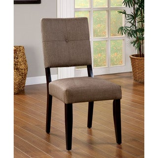 Furniture of America Catherine Taupe Fabric Dining Chair (Set of 2)