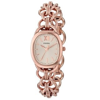 Fossil Women's ES3511 'Sculptor' Rose Goldtone Stainless Steel Watch