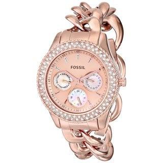 Fossil Women's ES3500 'Stella' Rose Goldtone Watch