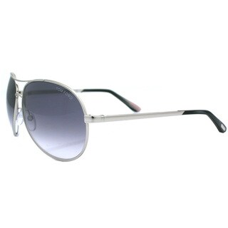 Tom Ford Unisex TF35 Charles 753 Silver Aviator Metal Fashion Sunglasses