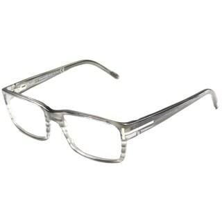 Tom Ford Mens TF5013 FT5013 020 Striped Grey Rectangle Plastic Eyeglasses